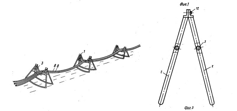 Прокладка временных кабельных трасс на опорах