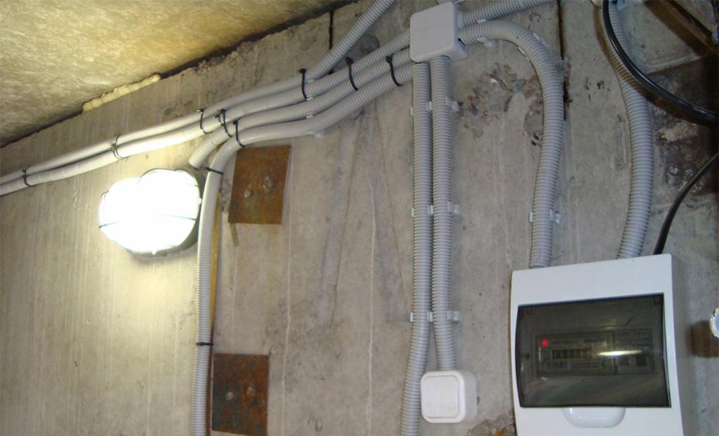 Фото организации освещения в гаража