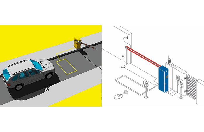 Пример использования индукционной петли- система автоматического открытия ворот